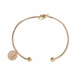 Jewelry - Letter J Initial Infinity Knot Bangle Bracelet
